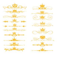 Gold elements, vector
