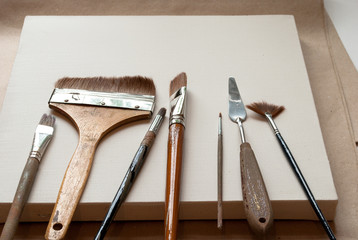 canvas and tools