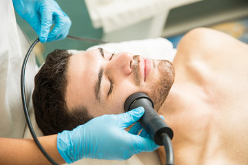 Facial rejuvenation therapy in a spa