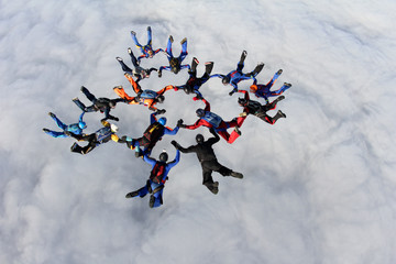Skydiving. Formation.