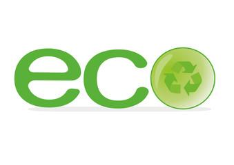 Vector logo eco