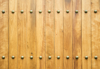 wood and brass tack texture background.