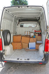 Boxes in Van Delivery