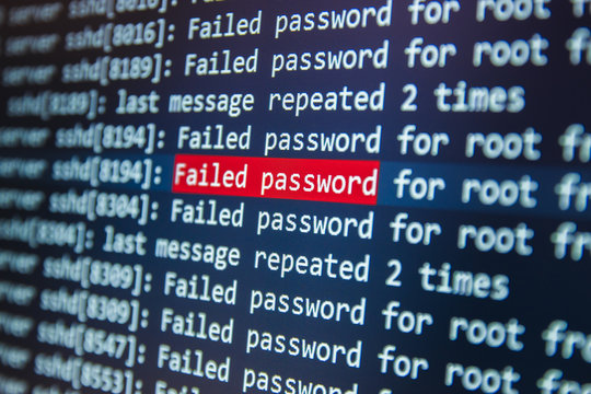 Failed password for root on server
