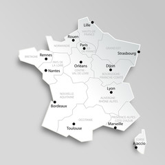 Carte de France des régions