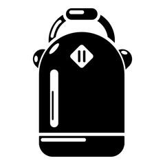 Backpack schoolgirl icon, simple black style