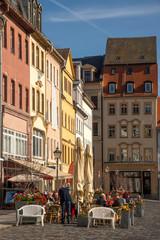 Foto op Canvas Barcelona Altstadthäuser am Marktplatz Altenburg in Thüringen
