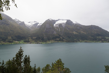 Scenic view from Oppstryn, Norway