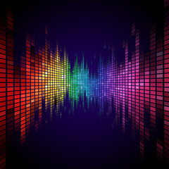 Rainbow colored equalizer effect