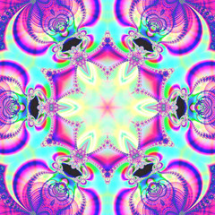 Colorful Fractal Background. A fractal is a natural phenomenon o