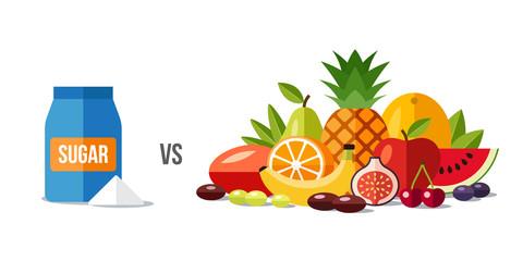 Sugar vs fruits