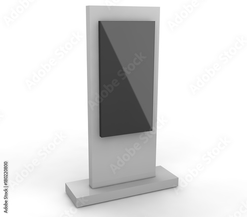Lcd display stand  3d illustration isolated on white background