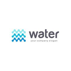 Vector logo design for water.