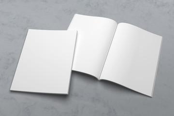 US Letter magazine or brochure 3D illustration mockup on texture No. 1