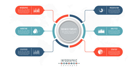 Infographic timeline template can be used for chart, diagram, web design, presentation, advertising, history. Vector infographic illustration