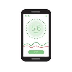 Cholesterol Meter app for smartphone or tablet. Vector illustration.