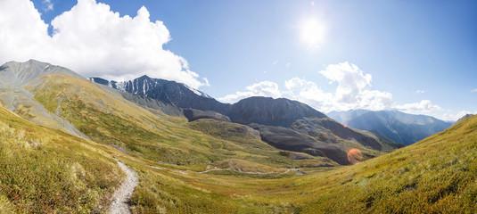 Altai panorama landscape.