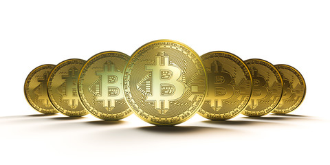 Bitcoin - Virtual money concept