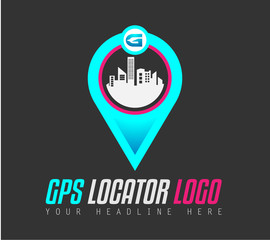 Creative GPS city locator Logo design for brand identity, company profile