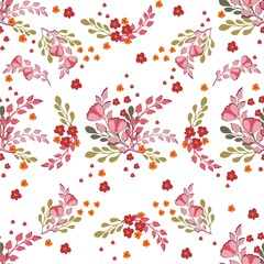 Seamless Floral pattern. Floral pattern for textiles, packaging, Wallpaper. Vintage background with flowers. Vector ornament.