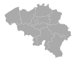 Karte von Belgien
