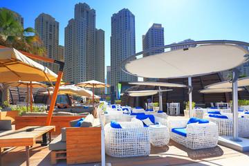 Marina bay district in Dubai