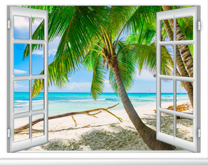Ocean widok okno Karaibska republika dominikańska