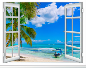 open window to the sea Caribbean Dominican Republic