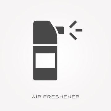 Silhouette icon air freshener