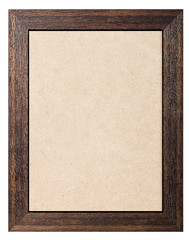 Wooden frame with plywood texture background