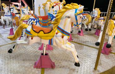 horses of merry go round