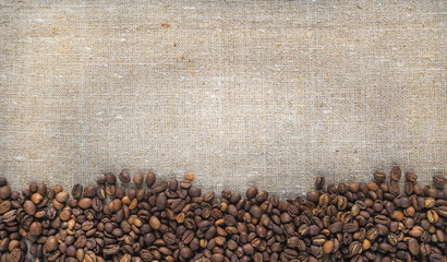 Frame background with coffee beans