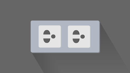Three Pins Plug (Flat illustrator)