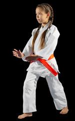 Girl martial arts fighter
