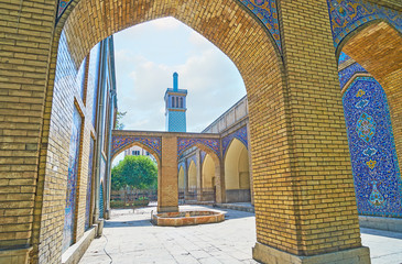 The tiled arches of Golestan, Tehran