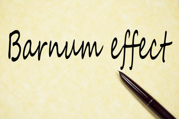 barnum effect text write on paper
