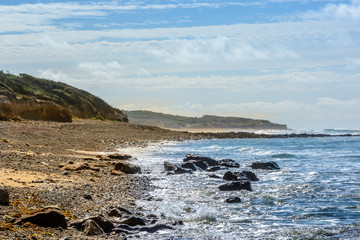 Atlantic coast at Jard-sur-Mer, Vendee, france