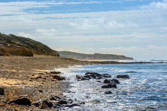 Atlantic coast at Jard-sur-Mer, Vendee, france