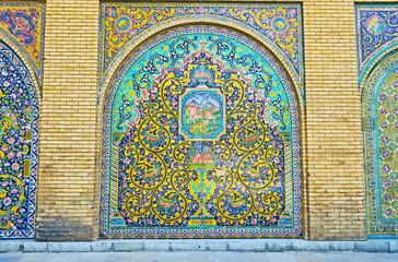 Decorative panels in Golestan, Tehran