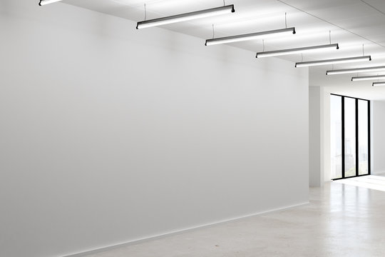 Concrete interior with empty wall