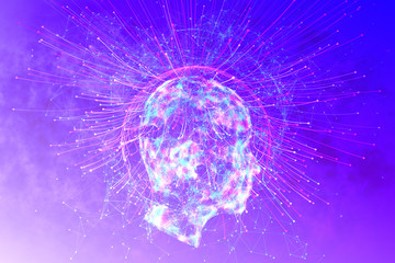 Artificial intelligence and mind concept
