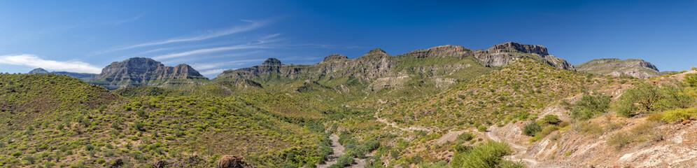 Baja California desert colorful landscape view