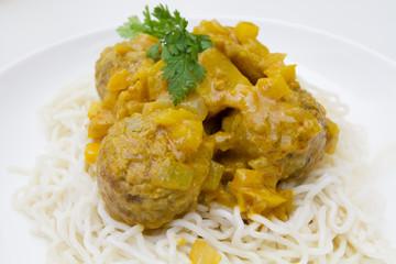 boulettes sauce curry