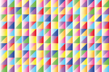 geometric background of brightly colored triangles
