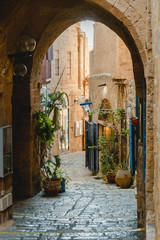 Deurstickers Marokko Jaffa sightseeng. Culture and history in old city.
