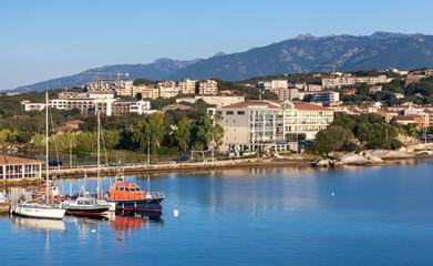 Harbor of Porto-Vecchio, Corsica island, France
