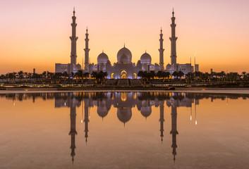 Sonnenuntergang an der Sheikh Bin Zayed Grand Mosque