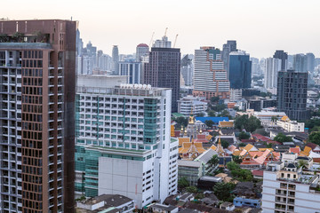 10 November, 2017: City buildings at Ekamai Bangkok Thailand