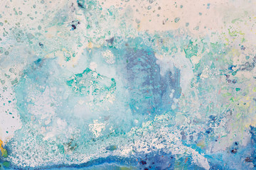 Blue color abstract painting in artistic style.