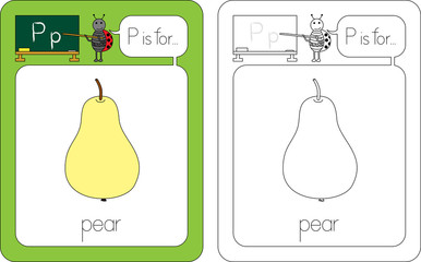 Flashcard letter P
